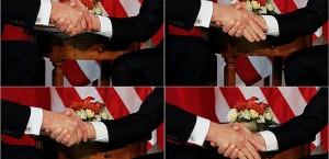 Fique ligado nos apertos de mãos que recebe...